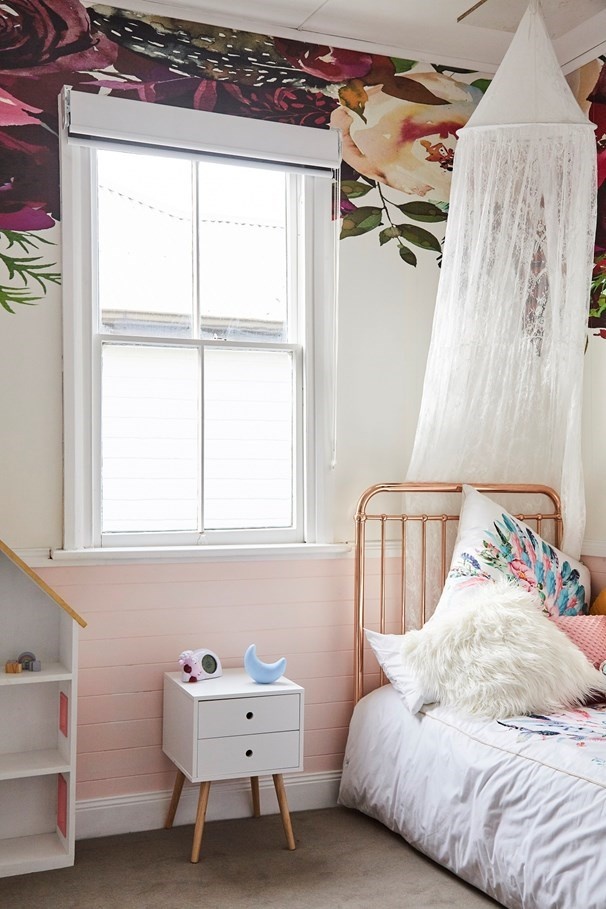 Mel & Dave created a bedroom fit for a princess for little Koa.