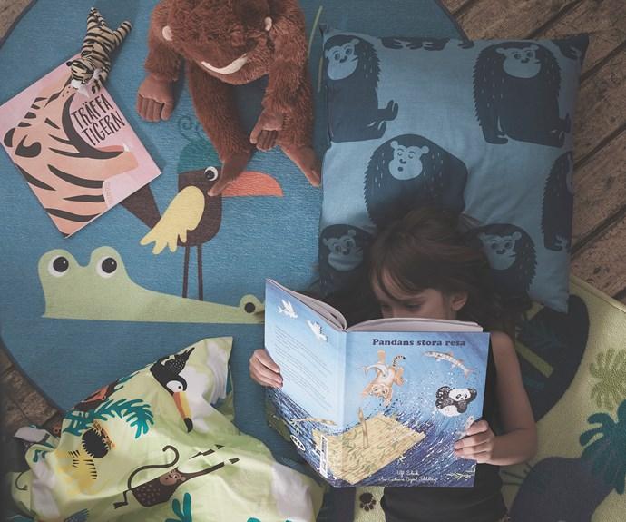 "DJUNGELSKOG  book *Panda's Amazing Journey*, $7.99, DJUNGELSKOG  small soft toy $2.99, DJUNGELSKOG rug flatwoven, $19.99, DJUNGELSKOG quilt cover and pillowcase, $29.99, DJUNGELSKOG  orangutan soft toy, $19.99, [IKEA](https://www.ikea.com/au/en/|target=""_blank""|rel=""nofollow"")."