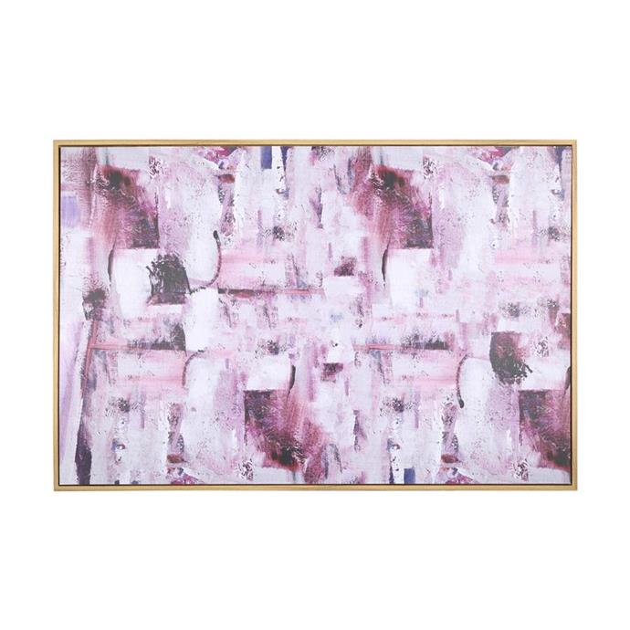 Framed 'Jewel' canvas, $19.