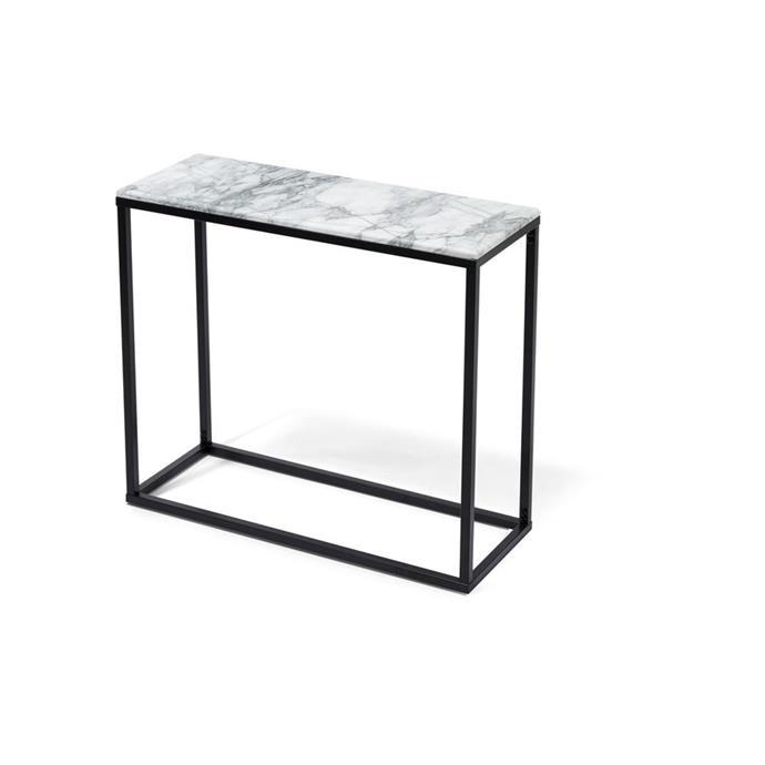 Genuine marble hallway table, $49.