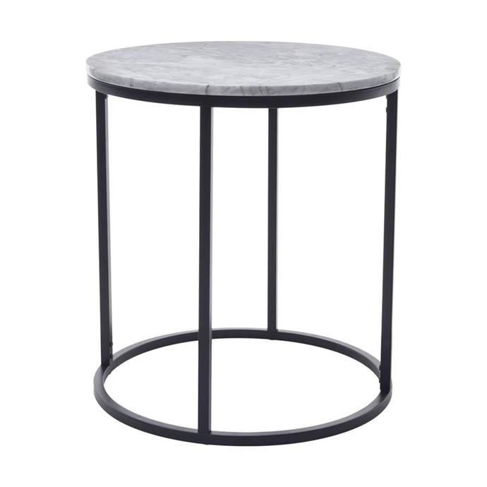 Marble side table, $29.