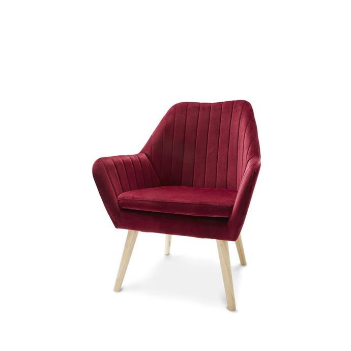 Pleated velvet 'Claret' chair, $69.