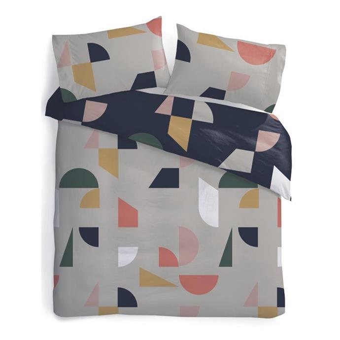 Set shapes Queen quilt cover, $18.