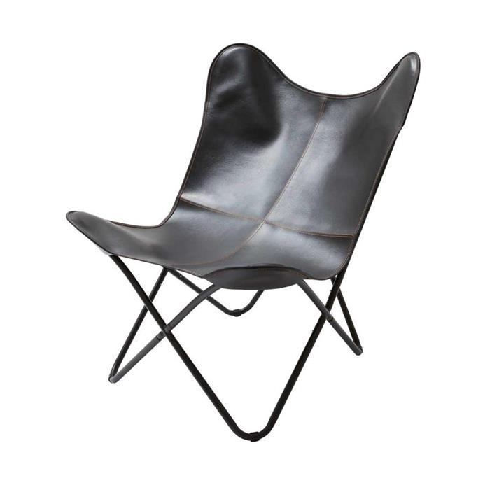 Butterfly chair in Black, $35.