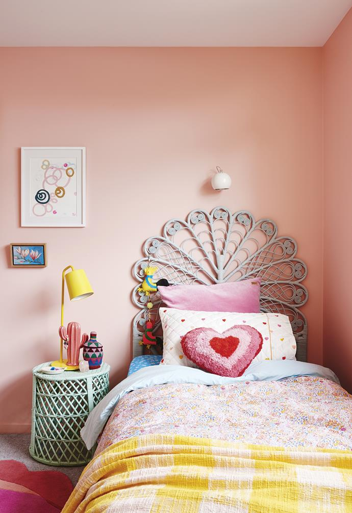 "**Ginger's bedroom** A cane bed from [The Family Love Tree](https://thefamilylovetree.com.au/|target=""_blank""