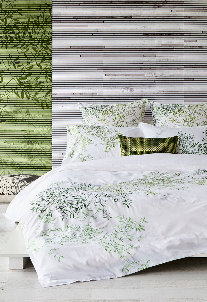 **What's your hero?** Textiles such as bed linen, cushions or a throw will add a different focal point to your bedroom. If your bedding is the hero, pair it with more subtle cushions and throws to make sure it's highlighted appropriately, and vice versa. When you want to change up space, simply replace your pieces to freshen things up again.