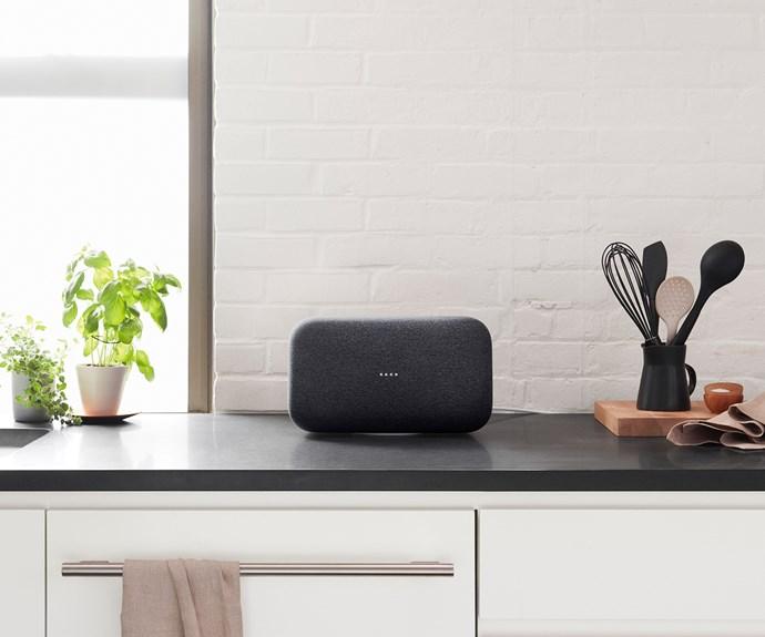 google home max black charcoal kitchen