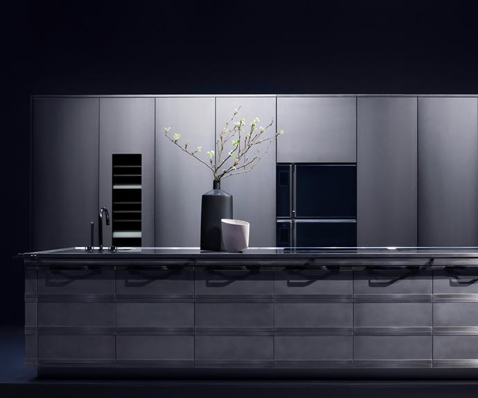 "**Kurkum** ""The stainless steel, in different finishes, enhances the look and quality,"" says the Fendi Cucine team. *Photography: courtesy of Fendi Cucine*."