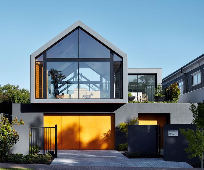 """""""Skybarn"""" is located in the inner-north suburb of Walkerville in Adelaide. Its gabled roof reflects the style of traditional houses in the area."""