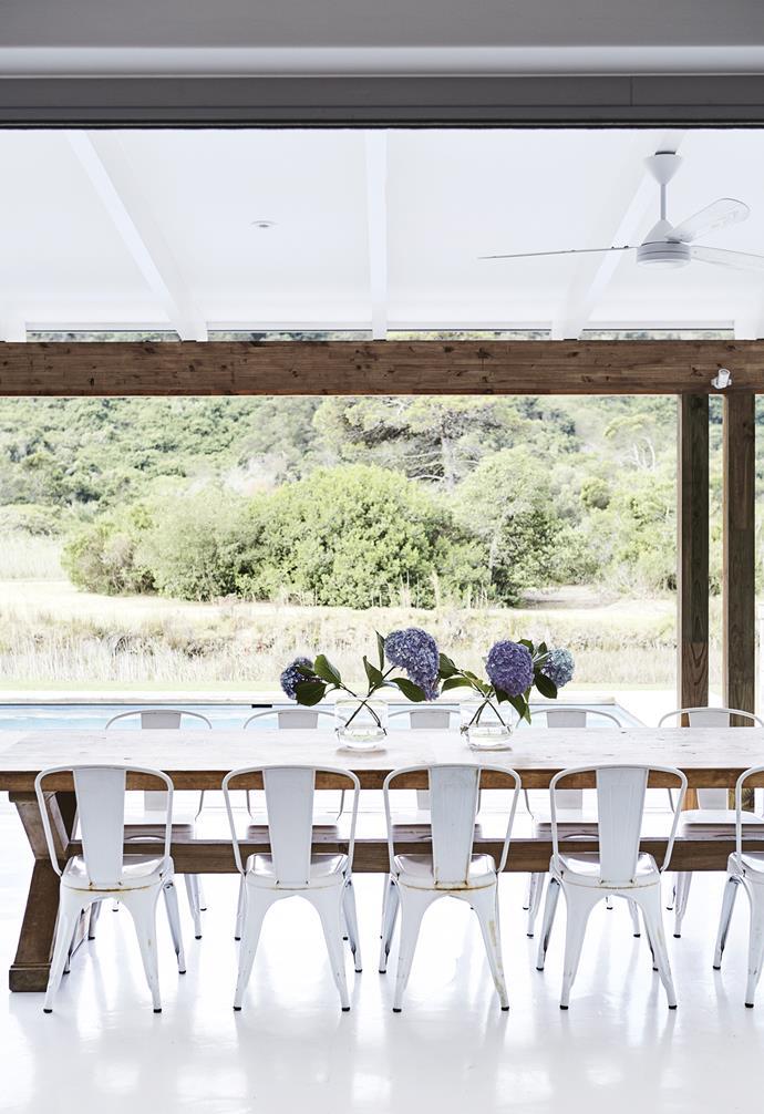 **Verandah** The verandah offers an expansive view over the pool and surrounding landscape. *Styling: Sven Alberding | Photography: Warren Heath*.