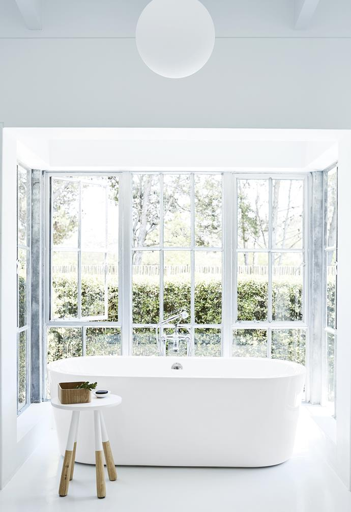 **Master ensuite** A large freestanding tub is a luxurious addition. *Styling: Sven Alberding | Photography: Warren Heath*.