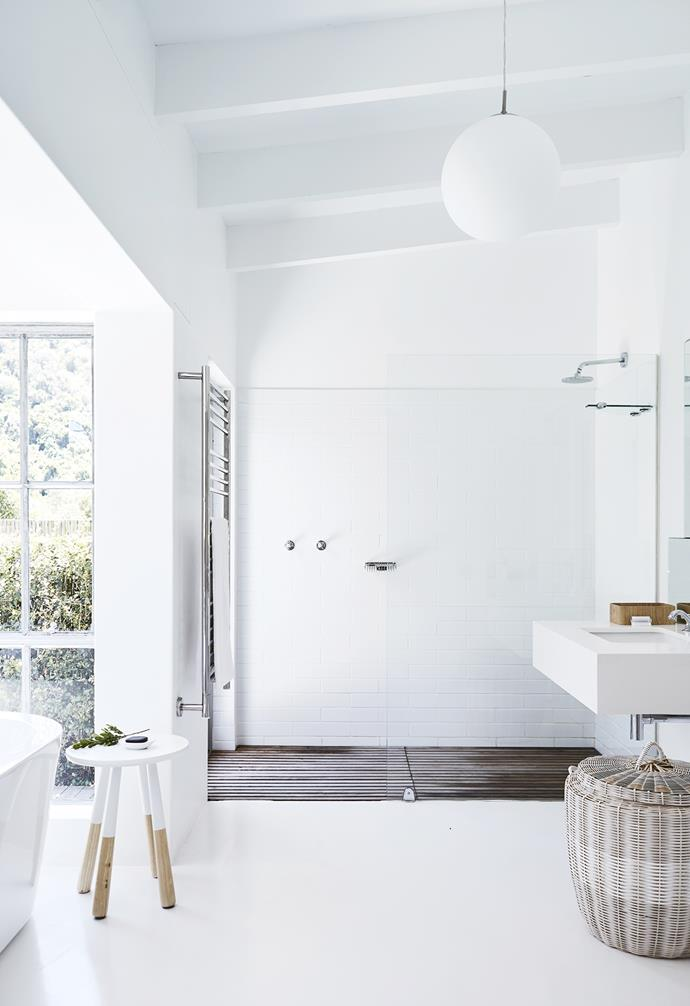 **Ensuite** The spacious walk-in shower is flooded with sunlight. *Styling: Sven Alberding | Photography: Warren Heath*.