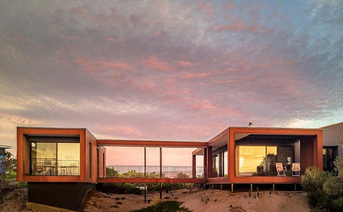 In this part of South Australia the sun sets over the ocean, which you can take in through the floor-to-ceiling windows.