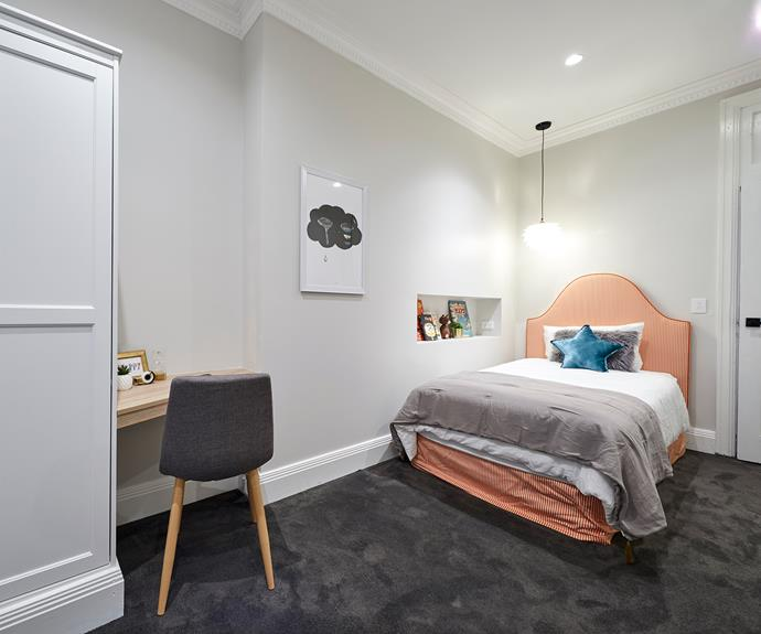 "**Hayden and Sara** [Hayden and Sara](https://www.homestolove.com.au/hayden-and-sara-the-block-2018-7020|target=""_blank"") hit the nail right on the head with their well-thought, functional and fun kids room. Tailored to a younger crowd, the room was a playful medley of circus like candy stripe, quirky artwork and parent approving layout."