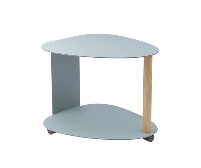 """**Storage is king** Keep books, toys and a lamp handy and portable with this clever table. Lind DNA 'Curve' table in Pastel Green, $495, [Leo & Bella](https://leoandbella.com.au/