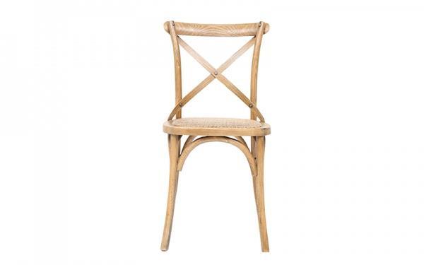 "Barista Cross Metal BK Dining Chair, $149, [Oz Design](https://www.ozdesignfurniture.com.au/barista-cross-back-dining-chair-oak|target=""_blank""|rel=""nofollow"")"