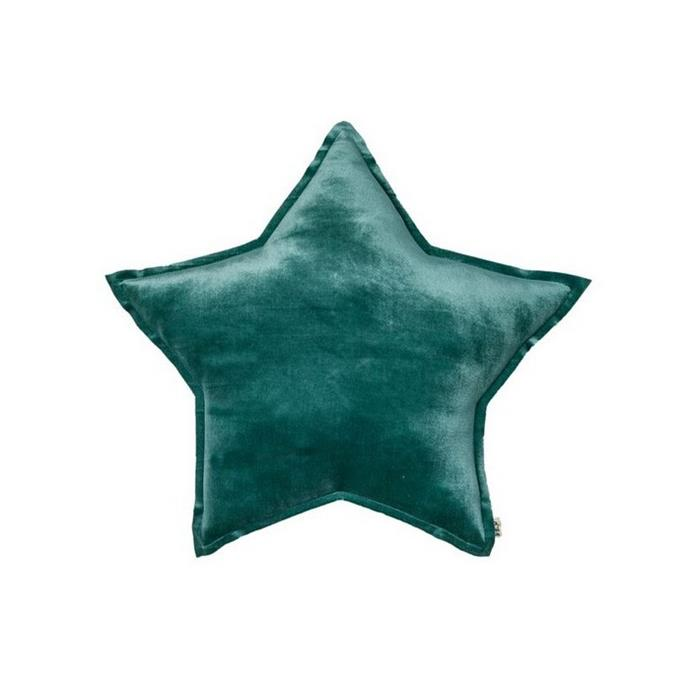 """Numero 74 Star Cushion in Velvet Teal, $55, [Leo & Bella](https://leoandbella.com.au/shop/numero-74-star-cushion-velvet-teal-small/