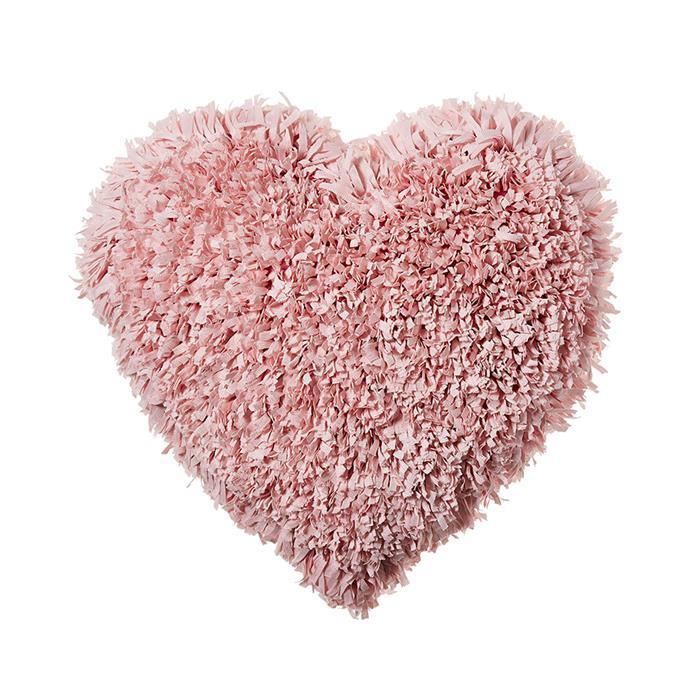 "Adairs Kids Ribbon Cushion Pink Fluffy Heart, $39.99, [Adairs](https://www.adairs.com.au/adairs-kids/home-gifts/cushions/adairs-kids/ribbon-cushion-range--pink/|target=""_blank""|rel=""nofollow"")"