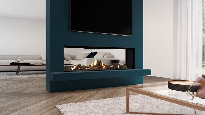 """Escea DS1400 double-sided gas fireplace (including flue), $12,998, [Abbey Fireplaces](https://thefireplace.com.au/