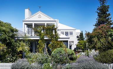 A coastal Australian home with a Cape Cod influence