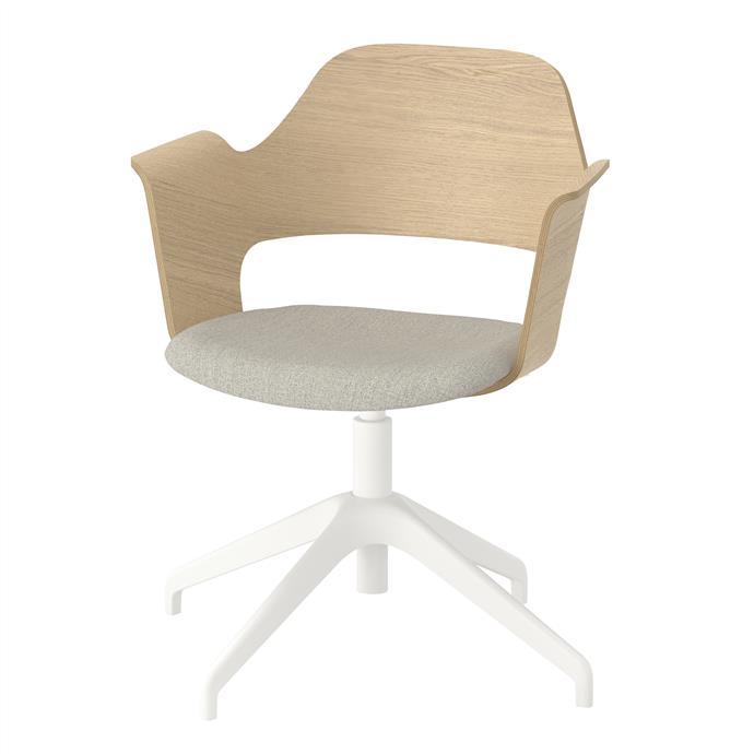 FJÄLLBERGET Conference chair in white stained oak veneer, $249.