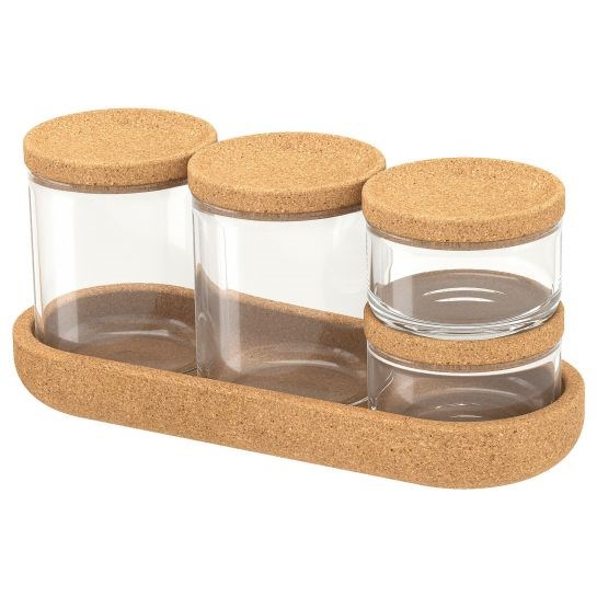 SAXBORGA Jars and Tray, $9.99