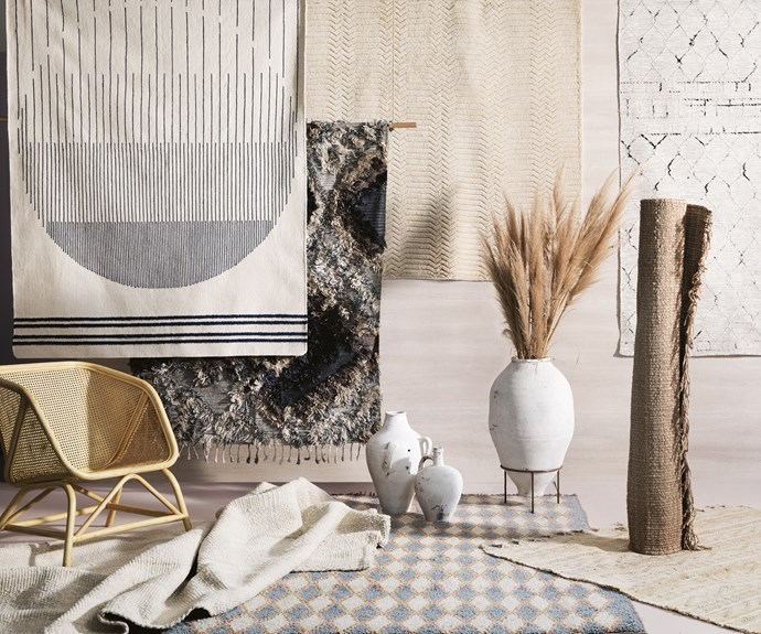 "**Forces of nature** Earthy textures and tones prove neutral can be notable. 'Raffles' chair, $450, [Byron Bay Hanging Chairs](https://www.byronbayhangingchairs.com.au/|target=""_blank""