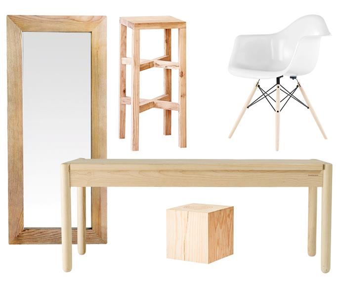 "**Organic elements** Combine raw timber finishes with natural curves to create this breezy, contemporary vibe. Designer classics complete the look. **Get the look** (clockwise left to right) Solid oak mirror, $690, [Beachwood](https://www.beachwood.com.au/|target=""_blank""