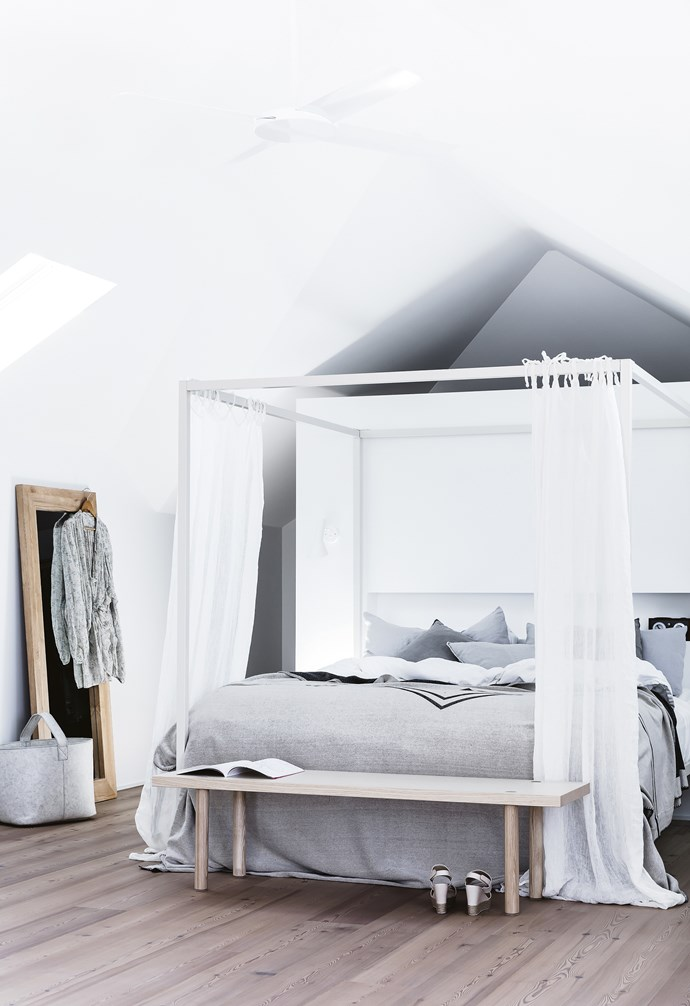 "**Master bedroom** A four-poster bed from a previous [Incy Interiors](http://www.incyinteriors.com.au/|target=""_blank""