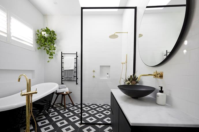 **The Block 2017: Ronnie and Georgia** They may not have won with this one but there was a lot to love about Ronnie and Georgia's bathroom on The Block 2017. From the feature tiles on the floor to the old-fashion clawfoot tub, this bathroom fit perfectly into their heritage home.