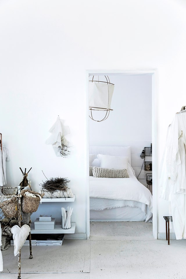 "**All-white:** An all-white colour scheme makes for a dreamy retreat in this [coastal-French Provincial style home](https://www.homestolove.com.au/coastal-french-provincial-home-7155|target=""_blank""). To [nail the all-white interior trend](https://www.homestolove.com.au/how-to-achieve-the-all-white-interiors-trend-5958