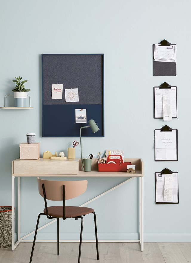 Once you have your system in place, either file things as soon as they come in, or keep them in a pile to be filed once a week.