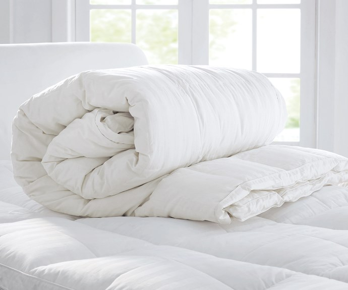 """**Quilts** 'Ultimate Dream' feather and down quilt, $899.95/queen, [Sheridan](https://www.sheridan.com.au/