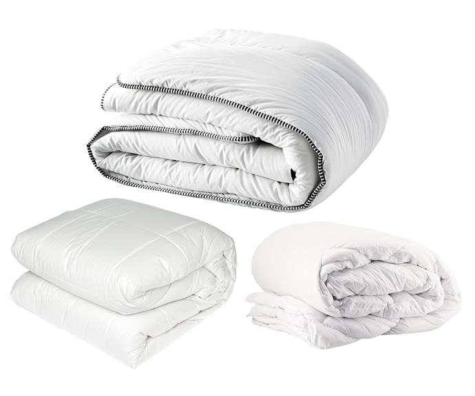 "**Quilts** (left to right) Washable wool quilt, $199/queen, [Freedom](https://www.freedom.com.au/|target=""_blank""