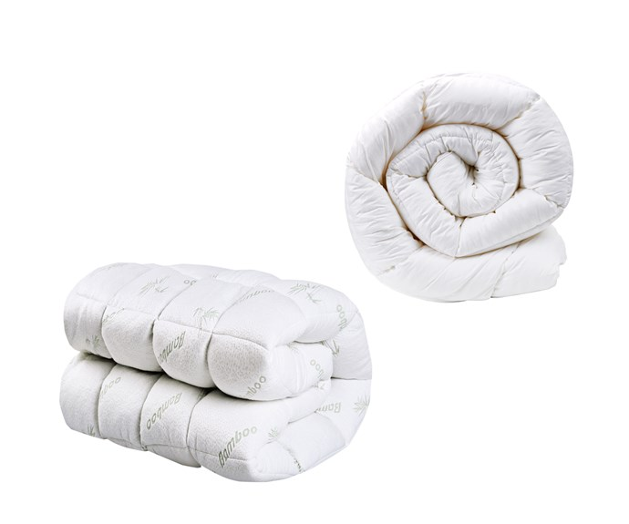 """**Mattress toppers** (left to right) Dreamaker bamboo-covered polyester ball fibre mattress topper, $219.95/queen, [Temple & Webster](https://www.templeandwebster.com.au/