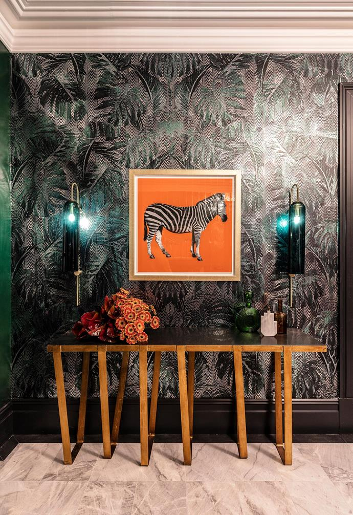 "**Wallpaper** Introducing [vibrant wallpape](http://www.homestolove.com.au/statement-wallpaper-designs-5696|target=""_blank"")r to create a feature wall can be a truly amazing way to highlight your artwork. Picking strong contrasting colours will make it all pop."