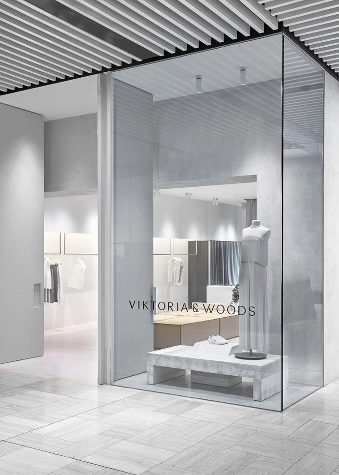 "Fiona Lynch designed the [Viktoria & Woods](https://viktoriaandwoods.com.au/|target=""_blank""|rel=""nofollow"") store at Emporium Melbourne. *Photo: Sean Fennessy*"