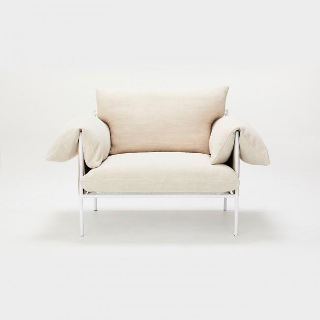 "'Alva' linen **lounge chair**, $1,595, from [Sarah Ellison](https://fave.co/2MQ4LJF|target=""_blank""|rel=""nofollow"")."