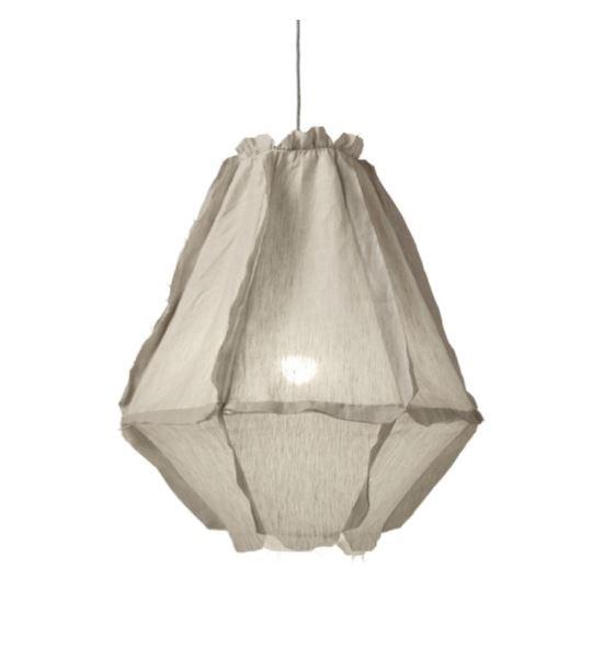 "'Cumulus' linen **pendant light**, $869, from [Zanui](https://fave.co/2MrgP7p target=""_blank"" rel=""nofollow"")."