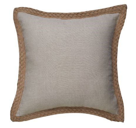 """Paloma Living jute cushion in sand, $49.95, from [Manchester Warehouse](https://fave.co/2MTez5J target=""""_blank"""" rel=""""nofollow"""")."""