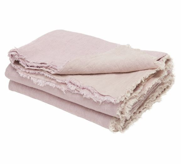 """Maison de Vacances washed linen **throw**, $350, from [Bastille and Sons](https://fave.co/2MQ4uX9 target=""""_blank"""" rel=""""nofollow"""")."""