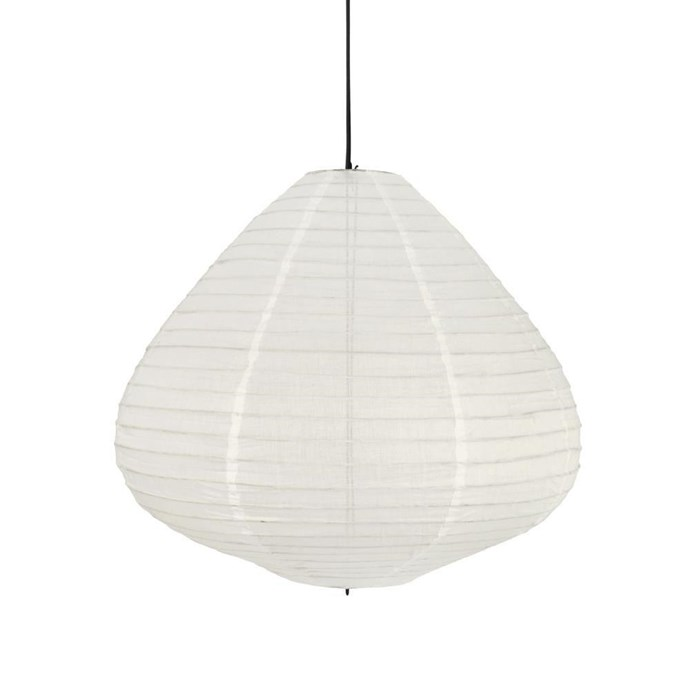 """Fabric **lantern** in natural, $249 (medium), from [Curious Grace](https://fave.co/2vJTBzN target=""""_blank"""" rel=""""nofollow"""")."""