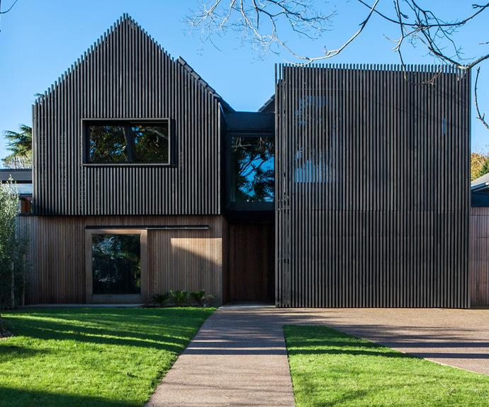 **Exterior** The cedar-clad exterior is a design feature that was popular in 1970s New Zealand architecture.