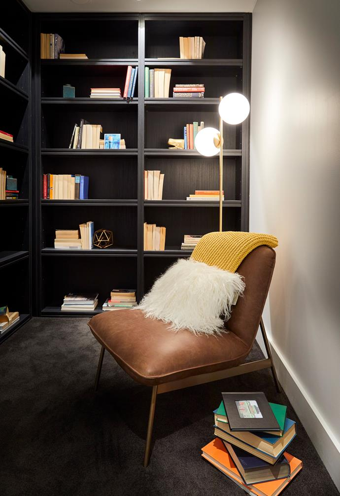 **Kerrie and Spence** The library was a charming touch with the judges enjoying the joinery.