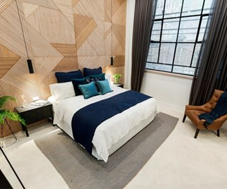 Karlie and Will's master bedroom from The Block 2016
