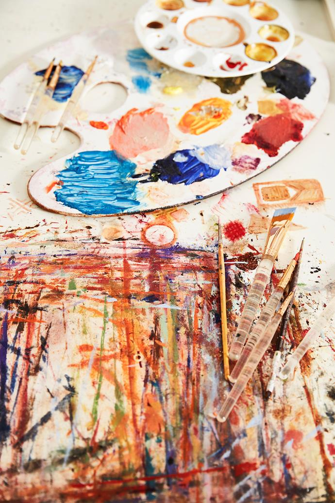 """""""While painting, I'm always searching for new genres and sounds to listen to."""""""