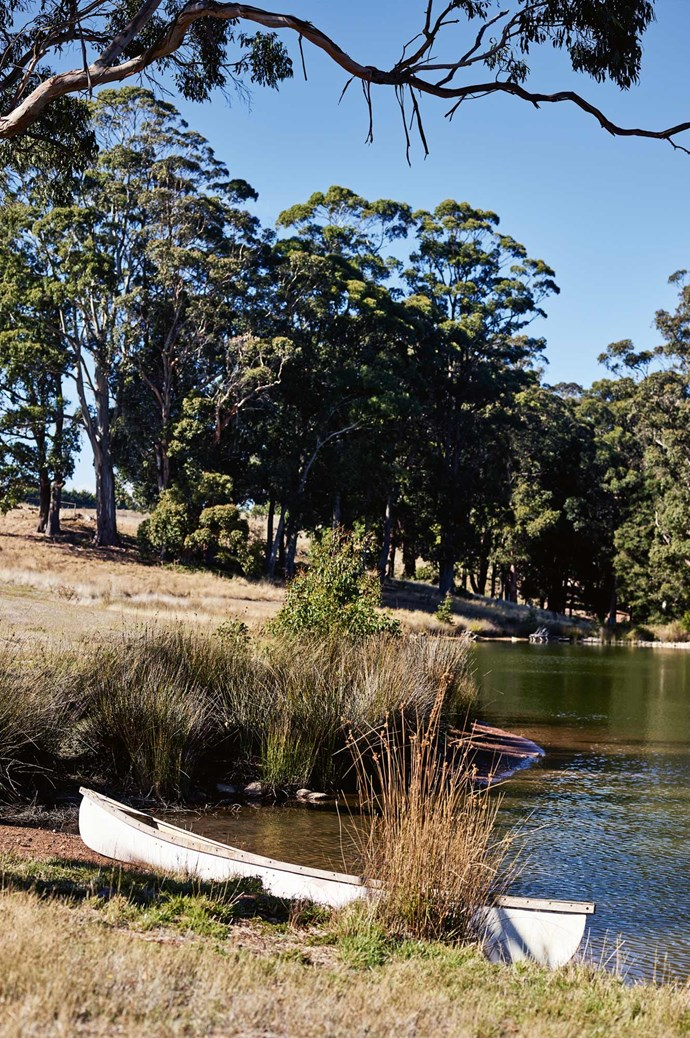 """Annie says, """"The lake is the source for the Loddon River, and the soul of the property. You don't come across this sort of place often, and when you do you pull out all the stops."""""""