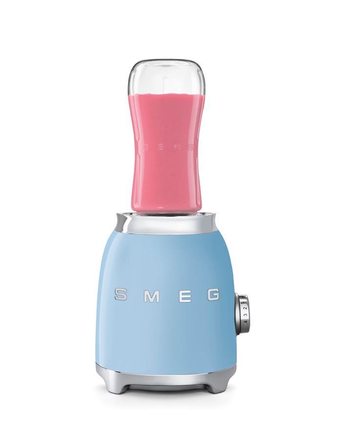 "Smeg Bottle to Go Blender, $299, [Harvey Norman](https://www.harveynorman.com.au/catalogsearch/result/?q=smeg|target=""_blank""|rel=""nofollow"")"