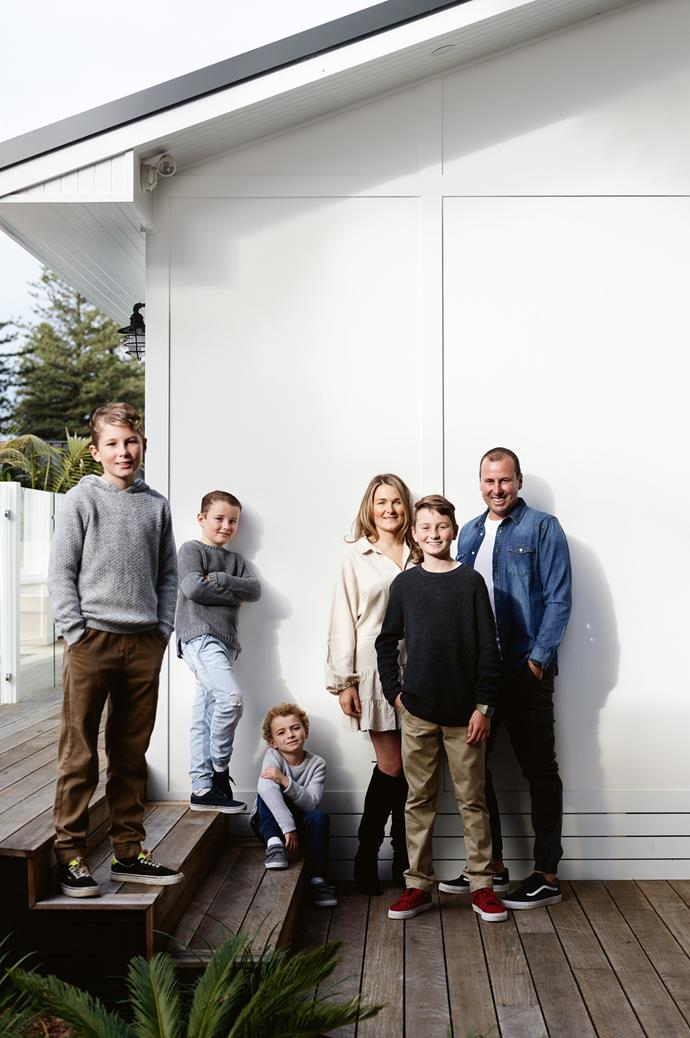 Archie, Tully, Koah, Simone, Marley and Ben Mathews live a relaxed life on the NSW South Coast. *Photography: Mark Roper | Styling: Jessica Hanson*
