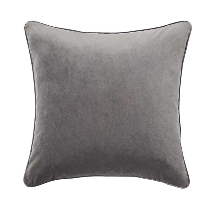 "'Zoe' **cushion** in flint, $59.95, from [Weave Home](http://weavehome.com.au/products/CZO91FLIN|target=""_blank""|rel=""nofollow"")."